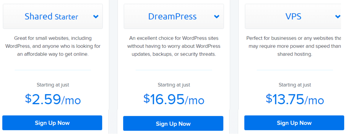 Dreamhost Web Hosting Plans