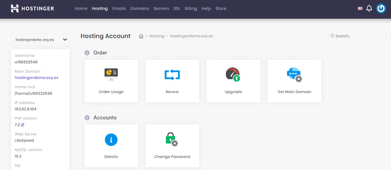 Hosting Account _ hPanel