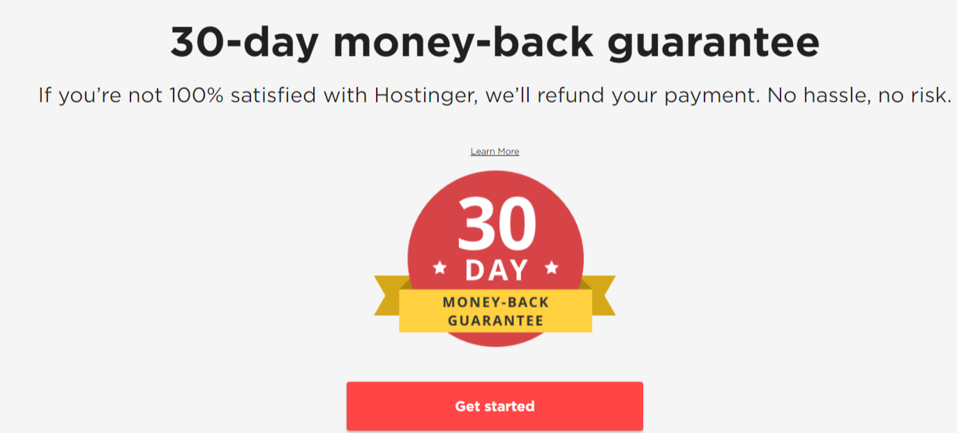 Hostinger-money back