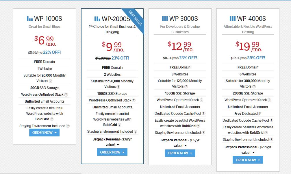 InMotion WordPress Hosting Plan