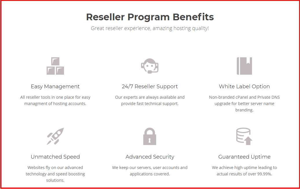 SiteGround Reseller Hosting's Features & Benefits