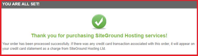 siteground Hosting Buying done