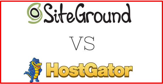 siteground vs hostgator web hosting